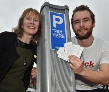 Unesco City of Literature director Nicky Page and Poetick lead designer Ben Alder with pay-and...