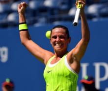 Roberta Vinci after beating Anna-Lena Friedsam. Photo: Reuters