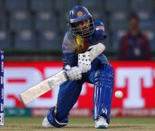 Tillakaratne Dilshan plays a shot for Sri Lanka against South Africa. Photo: Reuters