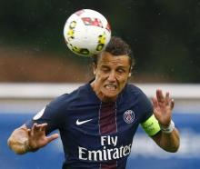 David Luiz in action for Paris St Germain. Photo Reuters
