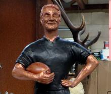 A working model/concept design of the Richie McCaw statue planned for Kurow. Photo by Shannon...