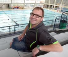 Former Dunedin ocean swimmer Philip Rush at Moana Pool yesterday after arriving in Dunedin for...