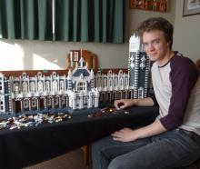 Dunedin Lego user Pieter Dennison has nearly finished his  Lego model of the Dunedin Railway...