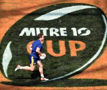 Otago winger Jack Wilson goes through his paces at an Otago rugby team training session at...