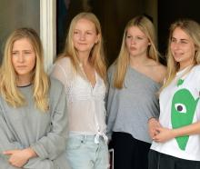 University of Otago students (from left) Kate Steele, Ella Sheetz, Lauren Dodd and Ella Berlin...