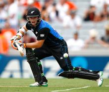 Opener Tom Latham top-scored for the Black Caps. Photo Getty