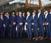 The Melbourne Storm and Cronulla Sharks at the NRL Grand Final function. Photo: Getty Images