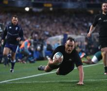 Israel Dagg scores the All Blacks' first try. Photo: Getty Images