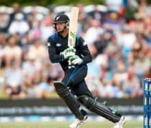 Martin Guptill made 72 for the Black Caps against India.