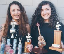 Musical duo Just Us, Teisha Seymour (left) and Karina Murray-Dodd, won the senior overall award...