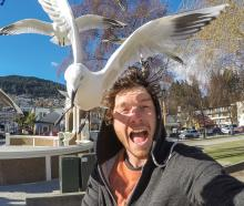 Irishman Allan Dixon and friend in Queenstown. Photo: Allan Dixon www.instagram.co/daxon.