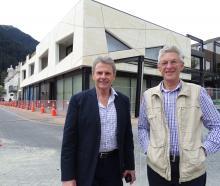 Skyline Enterprises Ltd chairman Mark Quickfall (left) and architect Michael Wyatt, in front of...