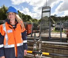 Dunedin City Council infrastructure networks general manager Ruth Stokes in front of the new...