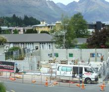 A 54-room boutique hotel being built in Henry St, central Queenstown. Photo: Guy Williams.
