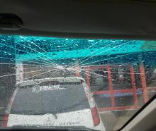 The window of a freedom camping enforcement officer's vehicle was broken during a patrol in...
