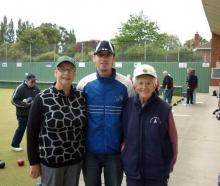Three generations of one family who won the Green Island open triples tournament. Pictured (from...
