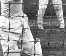 A young Milburn bats in the nets.