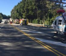 Emergency services at the scene of a serious crash on Coastal Highway, near Nelson. Photo: NZ...