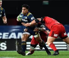Highlanders centre Malakai Fekitoa will play his 50th match on Friday night. Photo: