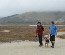 Adrian Hall (left) and Bradley Curnow, both Aramoana residents and members of the Aramoana...
