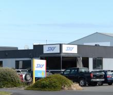 Sky TV's office in Dunedin  will close in April. Photo: Linda Robertson.