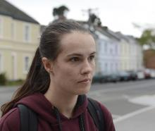 University of Otago fourth-year student Emily Currall says she and other students are on edge...