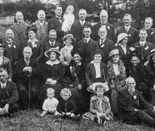 A group of Port Chalmers early settlers and their descendants at the picnic on March 14, to mark...