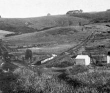 The Jubilee Nos 1 and 2 coal mines at Fairfield. Photo: Otago Witness, 25.4.1917; prints...