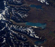 The most striking showed the Southern Alps and Lakes Ohau, Pukaki and Tekapo. Photo: Twitter/@Thom_astro