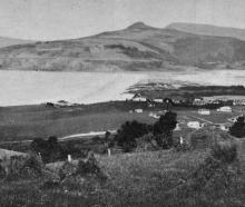 A popular Dunedin seaside resort: Warrington, showing Blueskin Bay. - Otago Witness, 25.4.1917.