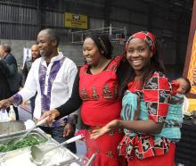 Stall-holders (from left) Marc Makoni, Becky Mbungua and Doreen Makoni with Marcus Mbungua (5...