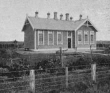 The Waianiwa Public School in Southland where the grounds are used for agricultural instruction...