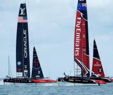Emirates Team New Zealand lost race 6 against Oracle Team USA in the America's Cup finals. Photo: Reuters