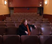 Actor and director Ellie Swann in what will soon become the New Athenaeum Theatre. Photo: Peter...