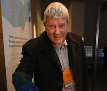 Prof Gary Wilson with an interactive display at Otago Museum depicting warming oceans. PHOTO:...