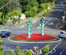 The Titirangi Roundabout has been named the international roundabout of the year. Photo: NZ Herald/ Titirangi Roundabout Facebook