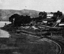 Burkes railway station on the Port-Dunedin railway line. — Otago Witness, 25.7.1917.