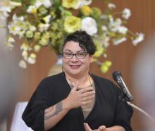 Former Green Party co-leader Metiria Turei speaks during a political forum at Knox Church Hall...