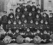 The Albany Street School band, winners of the A Grade fife and drum contest at the Dunedin...