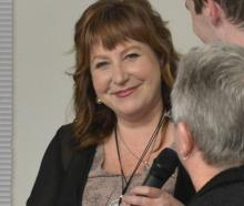 Clare Curran enjoys her victory with Dunedin South Labour supporters in Dunedin on Saturday night.