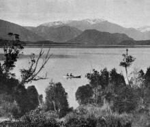 A charming South Island lake scene: Lake Kanieri, West Coast. — Otago Witness, 26.9.1917.