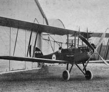 An aeroplane presented to the Royal Flying Corps by residents of Otago, who raised £1500 to buy...