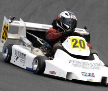 Clydevale's Paul Dunlop on his way to third place in the Superkart National Championships' Grand...
