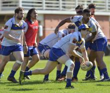 Otago halfback Jono Ruru moves the ball from a lineout at Otago training at Logan Park earlier...