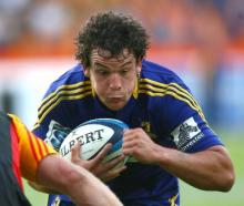 John Hardie in action for the Highlanders.