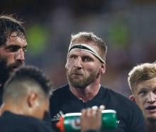 Kieran Read (2nd R): 'I guess we'll look back on that game, the Wallabies took a couple of...
