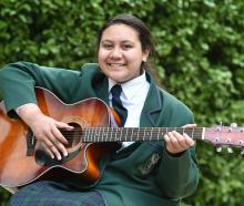 Serenity-Grace Nielsen finds a quiet place to practise and remember her father. Photo: Gregor...