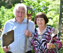 Bob and Eunice Sammes celebrate their 60th wedding anniversary with a spot of gardening. Photo:...