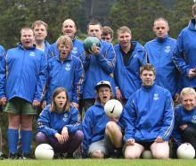 The Dunedin football team heading to Wellington for the Special Olympics next week is: front row ...