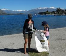 Kyla (left) and Jaime Taylor, of Wanaka, were two of the volunteers who took part in the first...